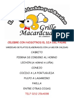 Dia Del Padre GRILLE MACARACUAY