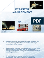 Disaster Management - II