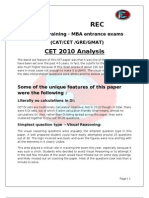 CET 2010 Analysis