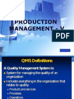 Production Management - V