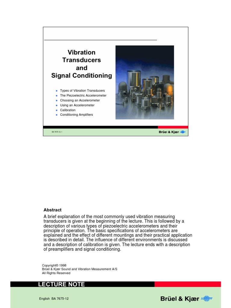 Vibration Transducer Bk Accelerometer Amplifier Shock Sensor