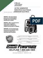 Coleman Vertex 7500 Generator