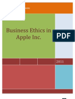 Business Ethics in Apple incorp.