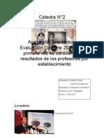 análisis  sobre noticia de evaluación docente 2010