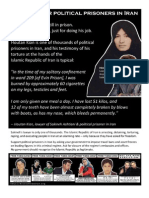 Flyer - Support Political Prisoners in Iran
