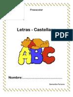 Hojas de trabajo Letras castellano Preescolar