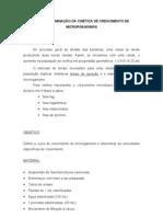 DETERMINAÇÃO DA CINÉTICA DE CRESCIMENTO DE MICRORGANISMOS