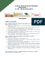 Program a6º Congreso AEB 2011
