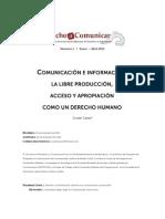 Derecho a La Comunicacion Cosette Castro[1]
