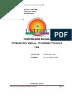 Tuberculosis Bolivia-Extrido Del Manual de Normas Tecnicas 2008