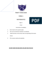CXC Mathematics_Form1_Term3