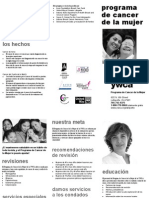 Womens Cancer Program Brochure SPANISH