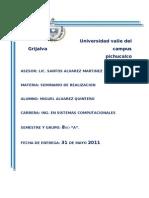 Tarea Unidada II y III (Seminario de Realizacion
