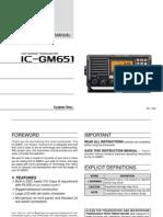 Ic-gm651 Vhf Manual