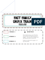 Fact Family Unifix Trains