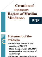 The Creation of ARMM