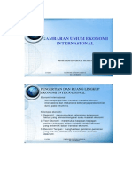 Gambaran Umum Ekonomi Internasional