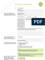 Land Registry Updating Contact Form