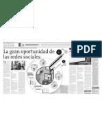 """""""La gran oportunidad de las redes sociales""""  El Comercio 170611"""