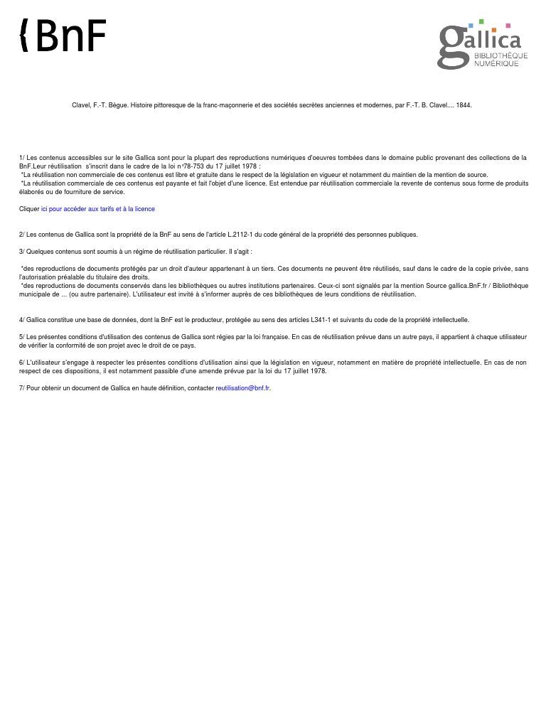 Histoire Pittoresque de La Franc Maconnerie Et Des Societes Secretes  Anciennes Et Modernes 12edc1c1cb5
