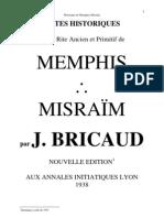 Notes Historiques Rite Ancien Primitif Memphis Misraim j Bricaud