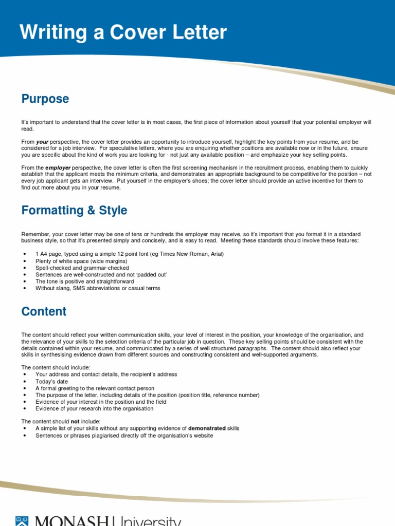 Guide How To Write A Cover Letter Resume Job Interview