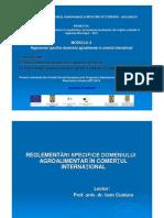 Reglementari Specifice Domeniului Agroalimentar in Comertul International