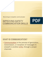 Improving Safety Communication Skills