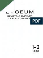 Revista Lyceum (Jibou) 1-2 din 1970