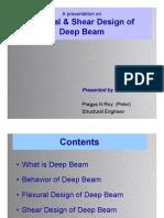 Deep Beam Flexure and Shear Design