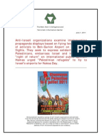 Anti Israeli Propaganda in Ben Gurion Airport