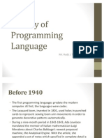 History of Programming Language