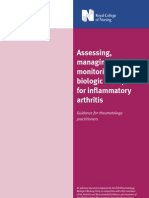 Assessing Managing and Monitoring Biologic Therapies for Inflammatory Arthritis