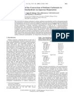 Insitu Conversion of Sodium Carbonate to Mono Hydrate
