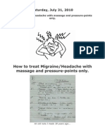 Acupressure Points for Migrain Headache