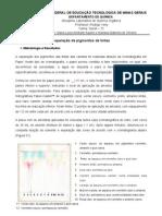 Separação de pigmentos de tinta por cromatografia em papel