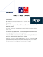 The Style Guide -- The Draft