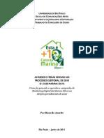 As redes e mídias sociais no processo eleitoral de 2010 - o case Marina Silva