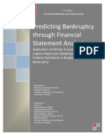 Predicting Bankruptcy Through Financial Statement Analysis