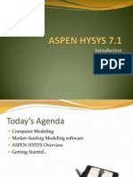Introduction Hysys 7.1