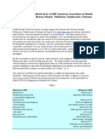 Comentarios sobre la 10º edicion del manual sobre RM de la AAMR (American Association on Mental Retardation)