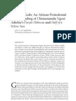 purple hib breaking gods an african postcolonial gothic reading of chimamanda ngozi adichie s purple hibiscus