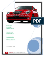 Financial Ratio Analysis of Indus Motors