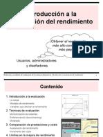 1 - Introducción a la evaluación del rendimiento