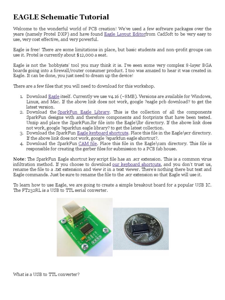 EAGLE Schematic Tutorial | Usb | Device Driver