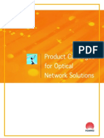 Product Catalogue for Opitcal Network SolutionHuawei