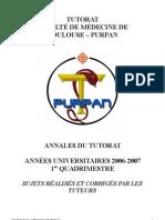 Annales Tutorat 2006-2007