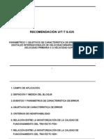 Esposición_UCV - Recomendación UIT G826