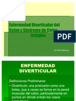 15. Sx. de Colon Irritable Enf. Diverticular