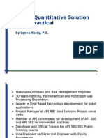 RBI a Quantitative Soulution Made Practical Lynne Kaley
